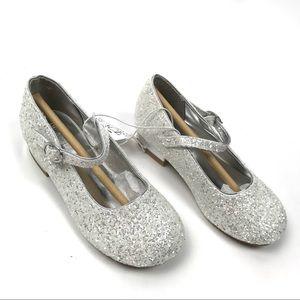 The Childrens Place Girls Heel Glitter Dress Shoes